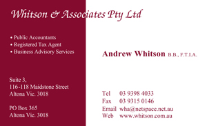 Whitson & Associates Pty Ltd